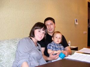 Natasha, Raman and Pasha (1 yr old)