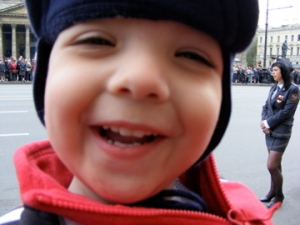Isaiah enjoying the parade